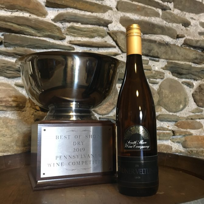 South Shore Gruner Veltliner PA Wine Competition Best in Show